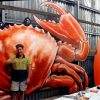 Fun, Food & Adventure for the whole family. - giant Crab and mural art