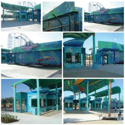 Dreamworld theme Park Mural Art - White Water World ticket booth