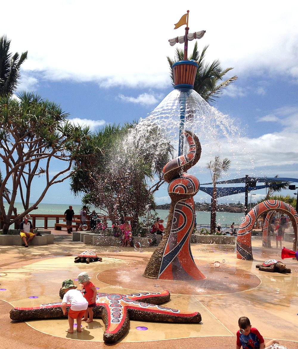 Yeppoon Water Play installation