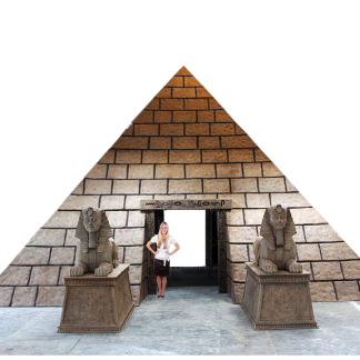 Pyramid - Ready to assemble fibreglass stone block paneling kit with full assembly instructions.