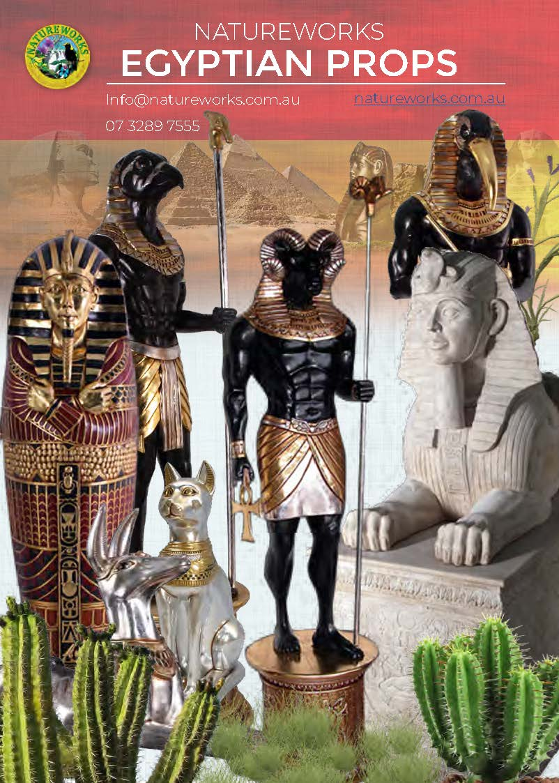 Egyptian Themed Props & Pyramid - kits - large for sale