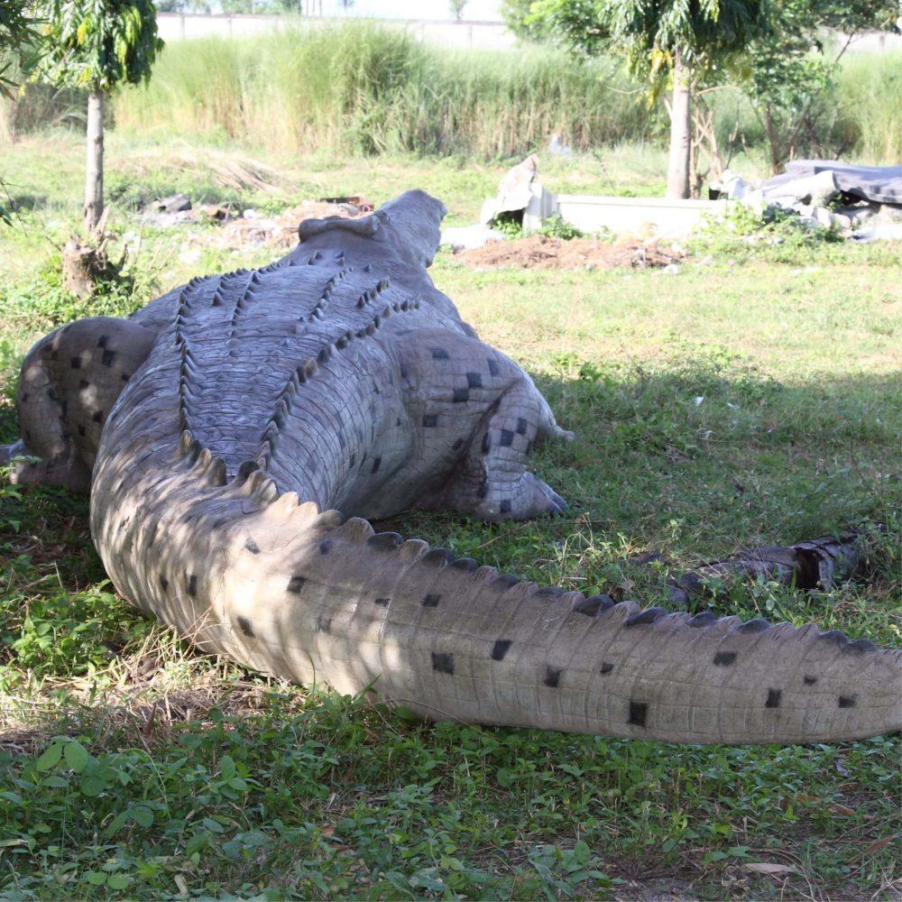 Crocodileft Replicaofamonstercrocodilestatue