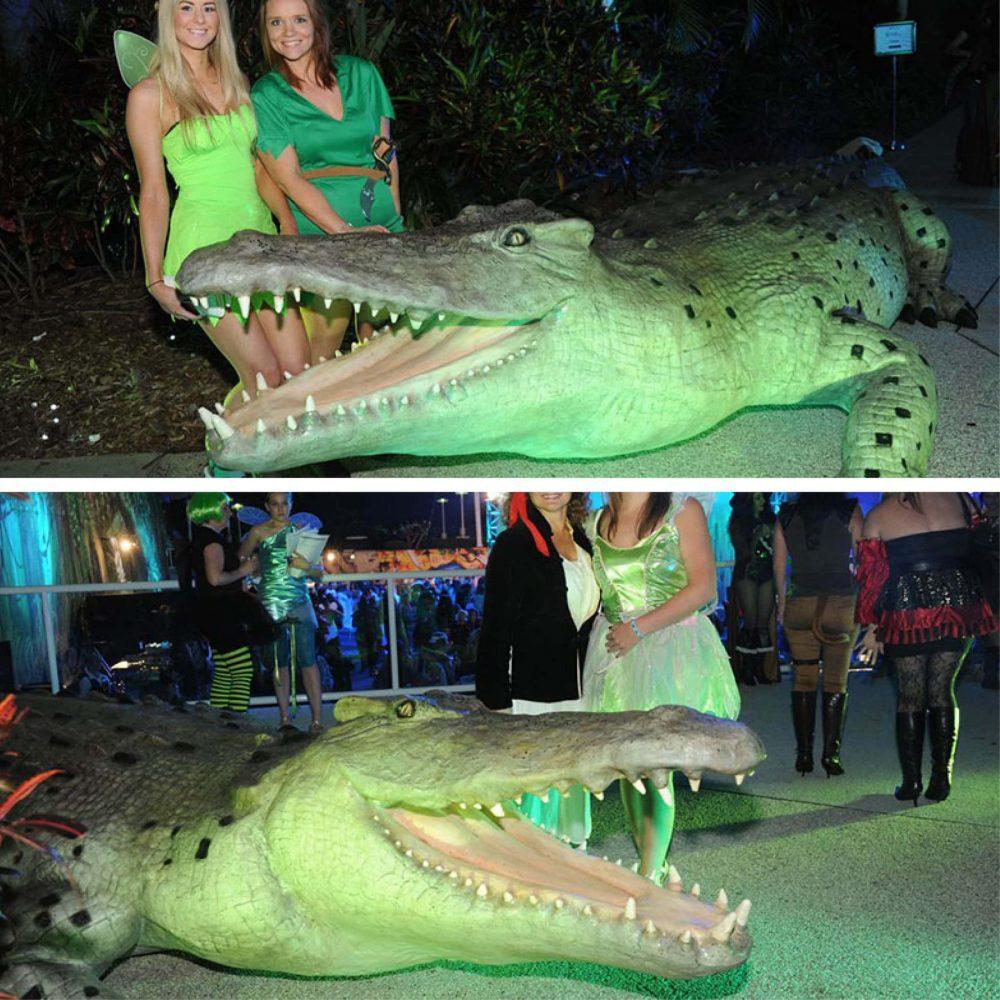 Crocodilemonster photoopportunity