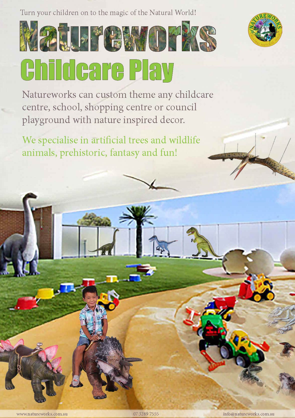 Our High-quality 2-D and 3D play concepts are unique from the rest and will add that touch of magic which will enrich your chosen play space