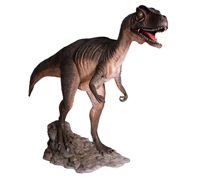 Allosaurus Dinosaur Statue Mouth Open