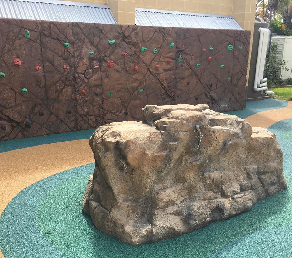 Artificial Rocks Caloundra Rock Climbing wall installed