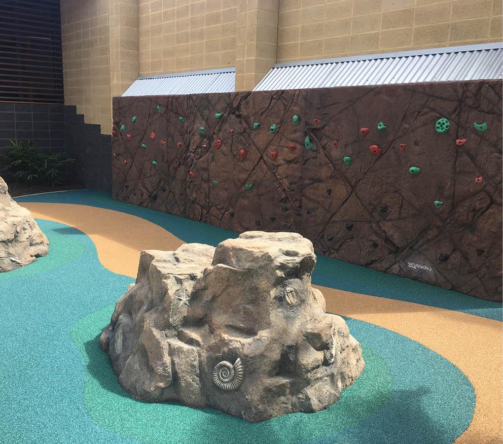 Artificial Rocks Caloundra Rock Climbing wall with rocks