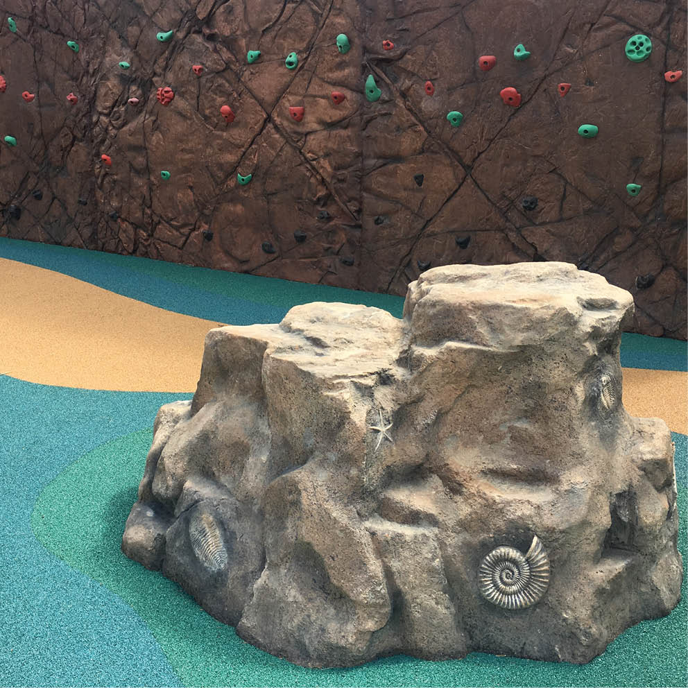 Artificial Rocks with fossils