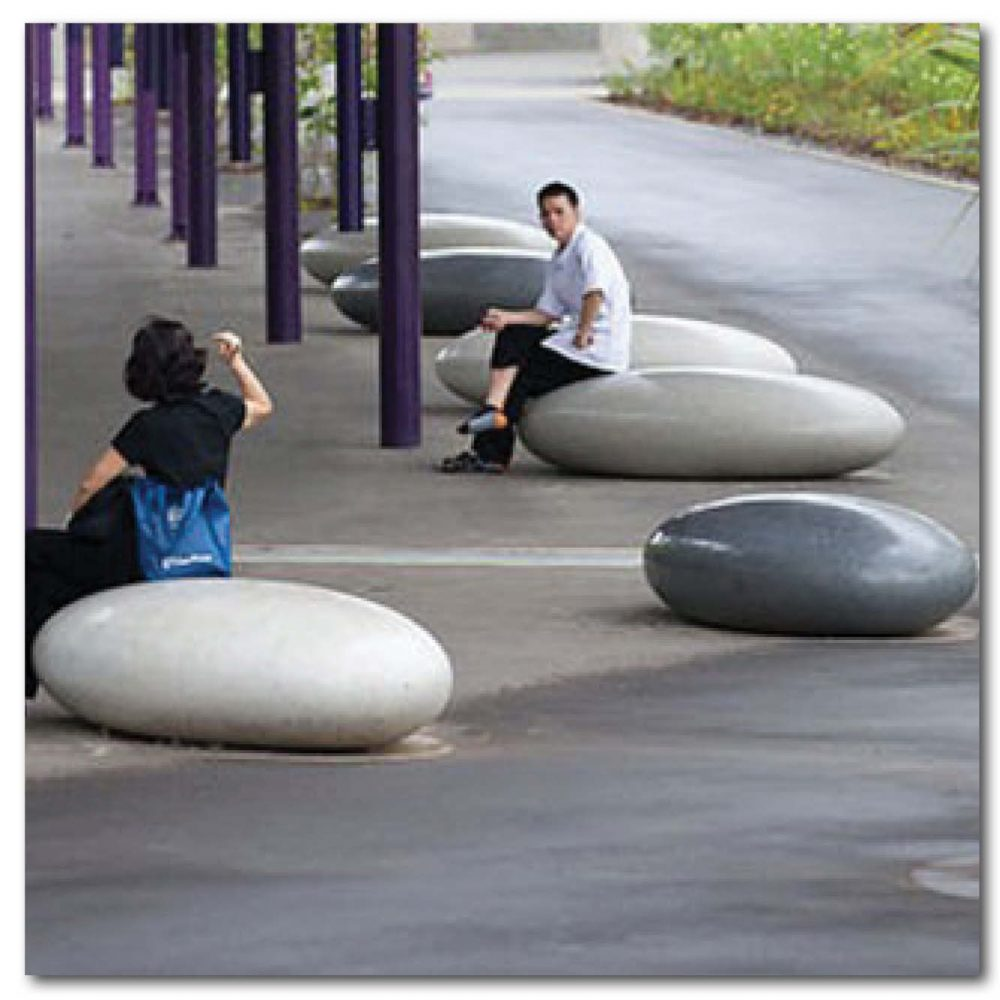 Designer Pebble rock seats - for commercial spaces