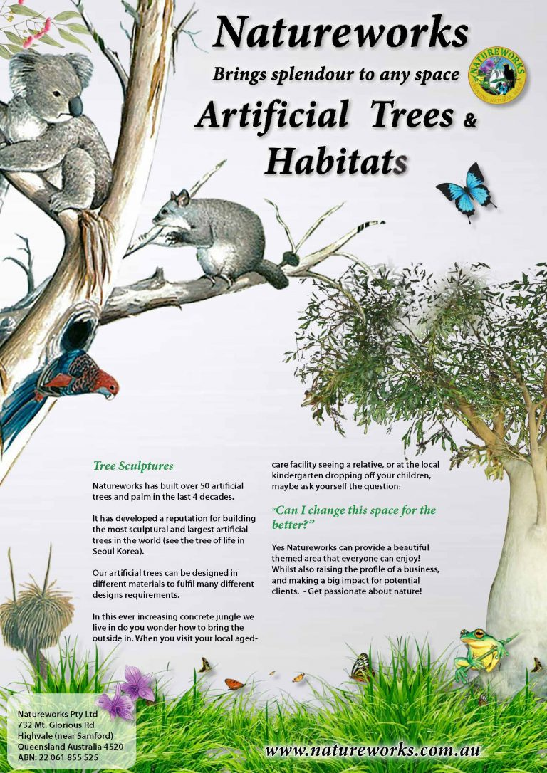 Artificial trees, plants and habitats