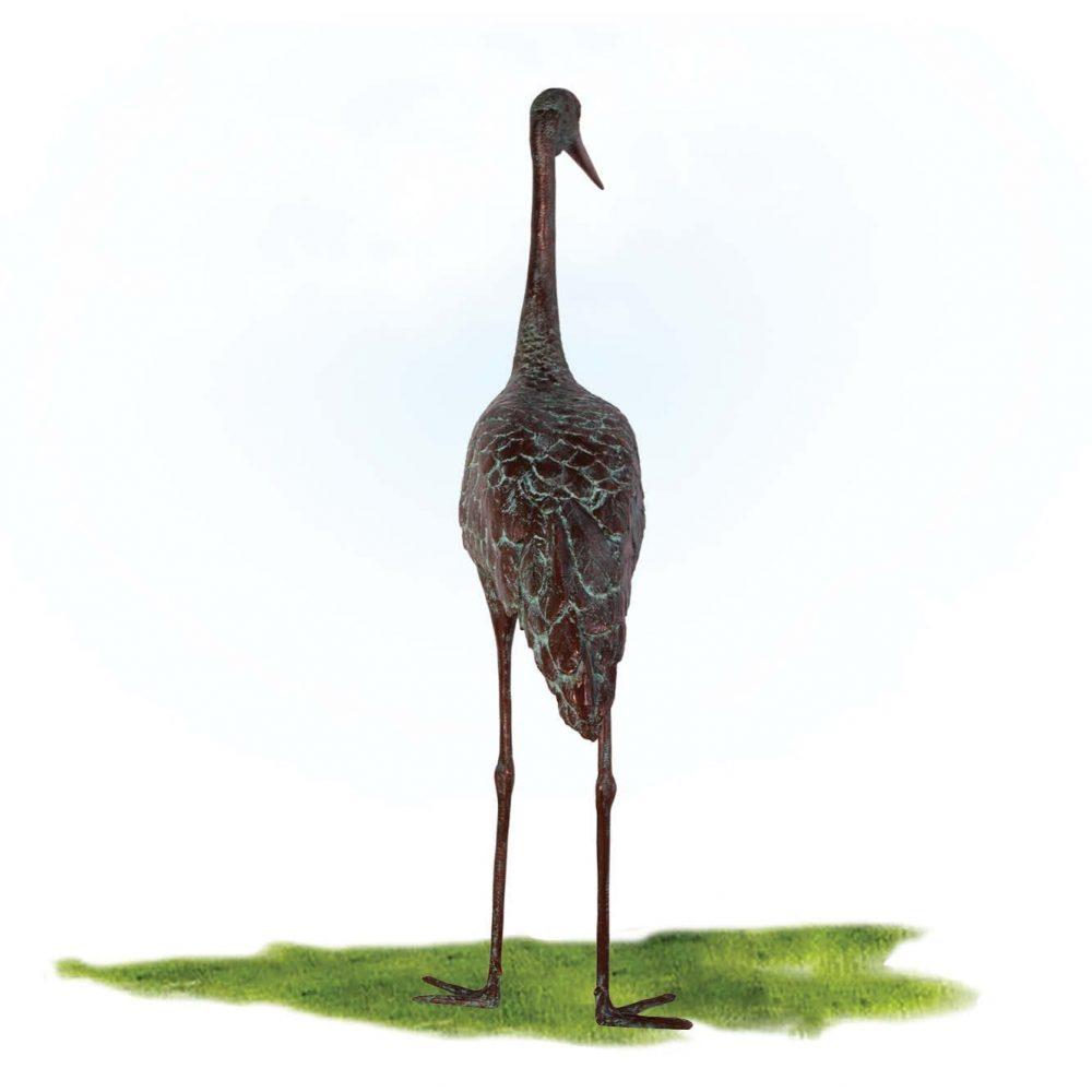 Brolga Bird Statue - Greenish Bronze Finish. This is also available in Bronze & white colour finish.