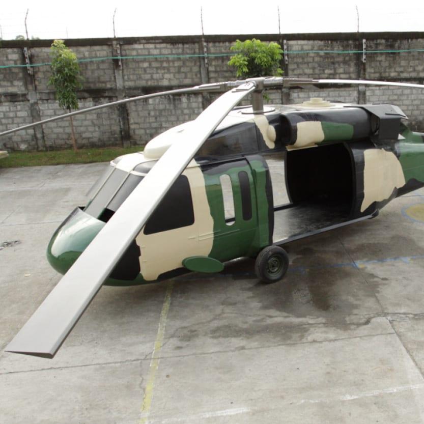 Black Hawk Helicoptor angle view