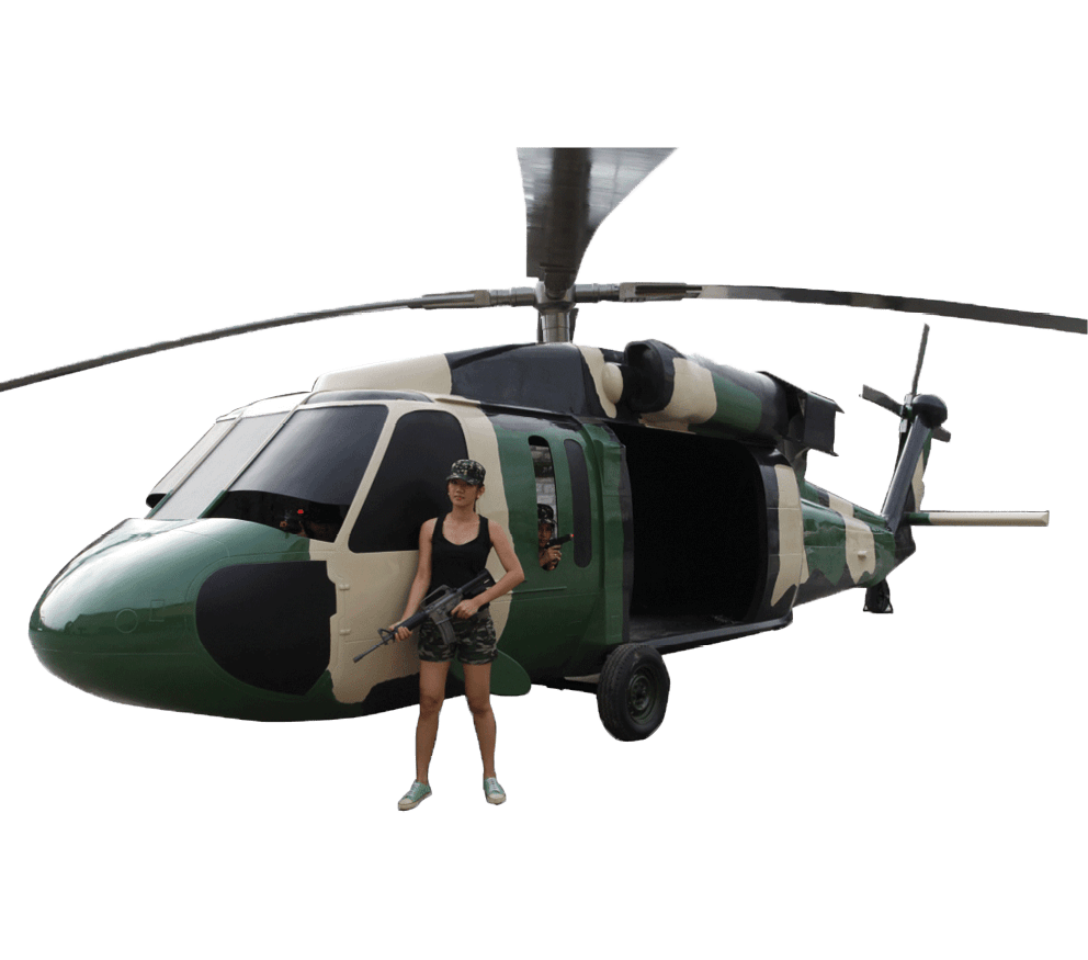 Black Hawk Helicoptor with girlpx