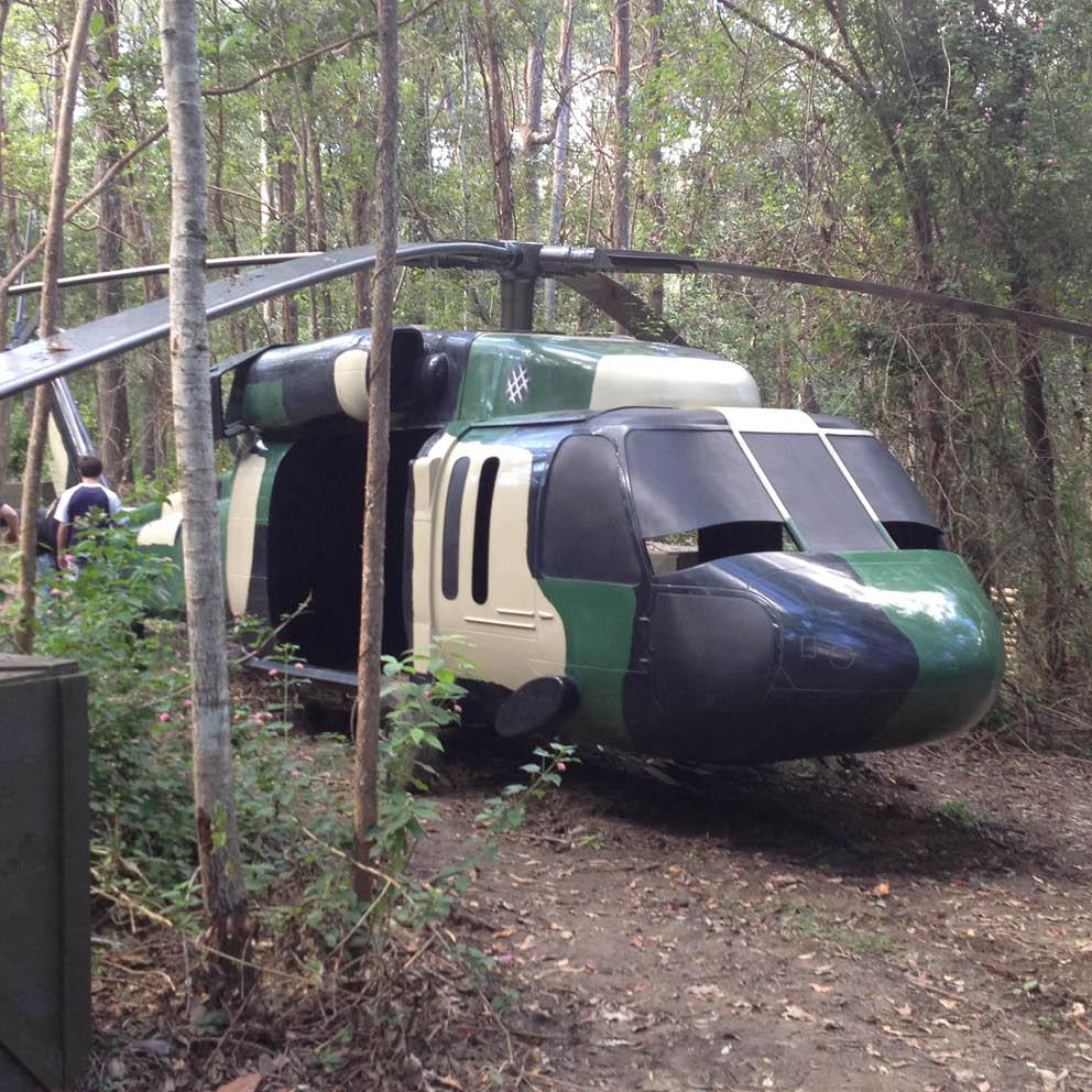 Blackhawk helicopter in situ