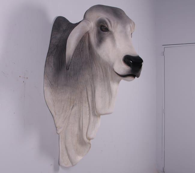 Brahman Bull Head And Shoulder Wall Decore