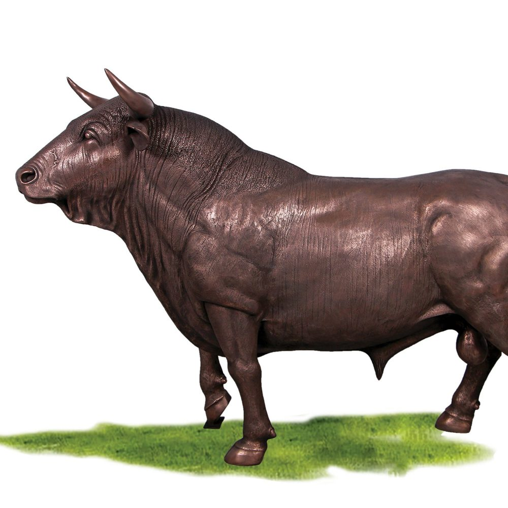 Bronze Spanish Bull statue ideal for your office or themed event