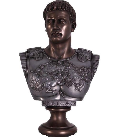 Bust Augustus Caesar BAluminum