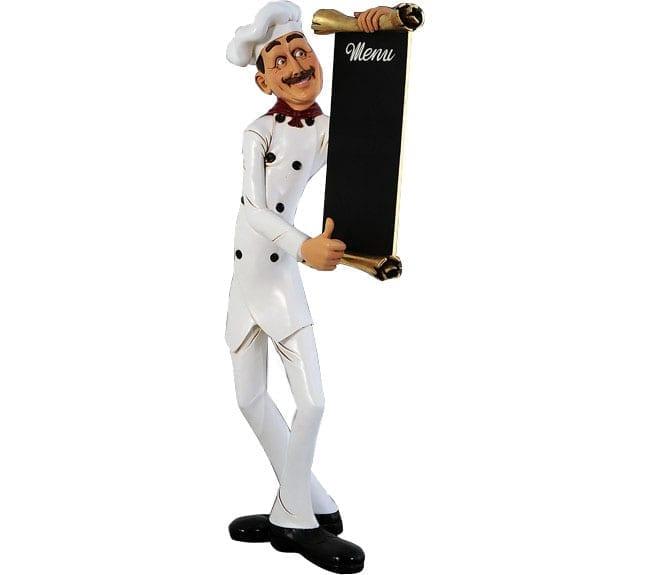 Chef Skinny With Menu Board