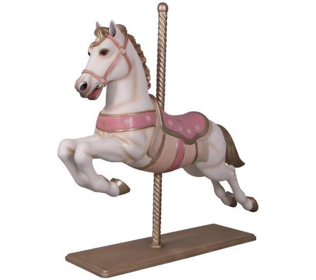 Christmas Carousel Horse Sculpture