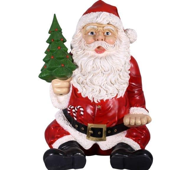 Christmas Santa Statue Sitting