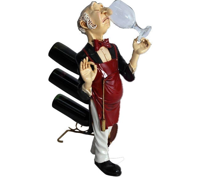 Connoisseur Wine Holder Statue ft