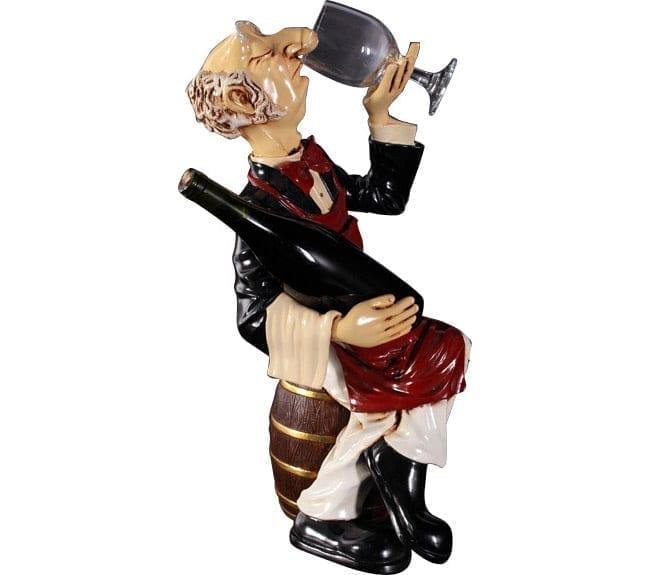 Connoisseur butler Sitting on Barrel statue ft HFSCB