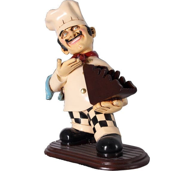 Cook Statue With Menu Holder  ft