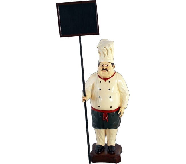 Cook statue with Sign Board ft