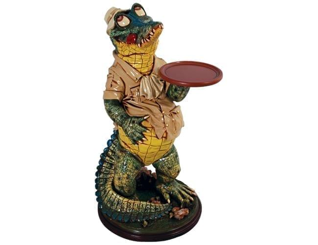 Crocodile Butler Statue Large