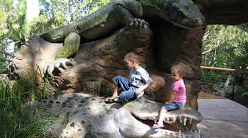 Currumbin Sanctuary Entry Statement Croc and giant Goannal