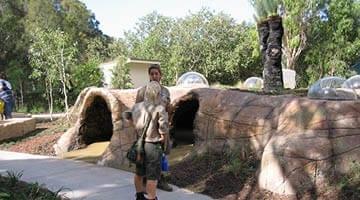 Currumbin Sanctuary viewing tunnels