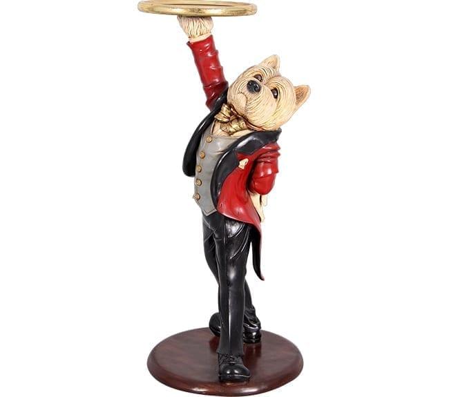 Dancing Dog Butler Statue