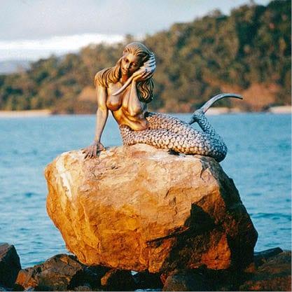 Daydream Island Mermaids on Rocks Mermaid