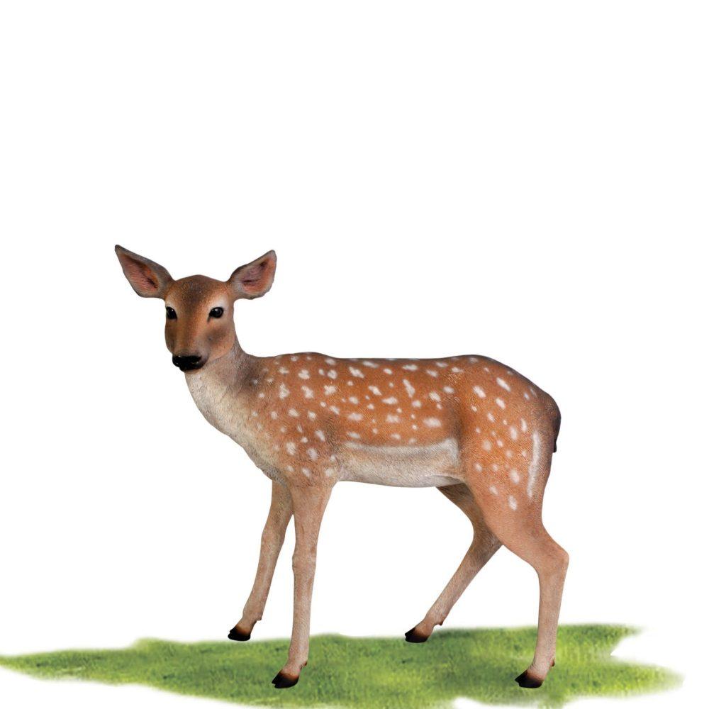 Cute deer fawn - statue in standing pose