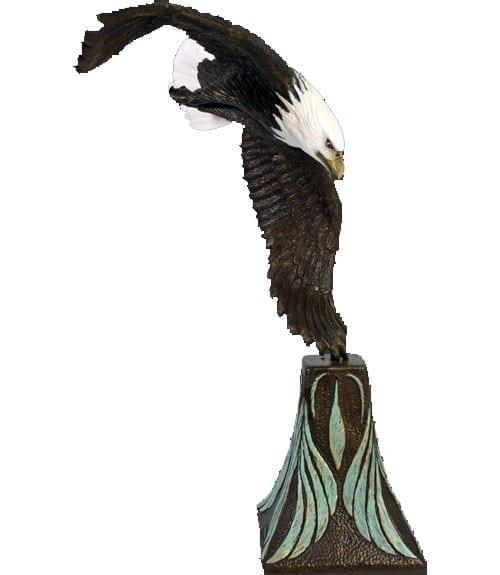 Eagle American Bald Eagle no Base