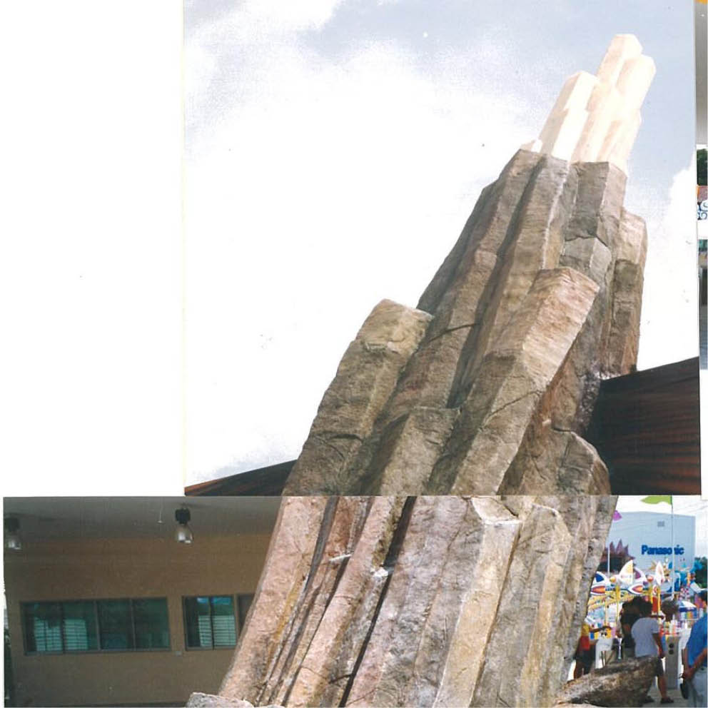 Earth Spike completed showing Crystall on top