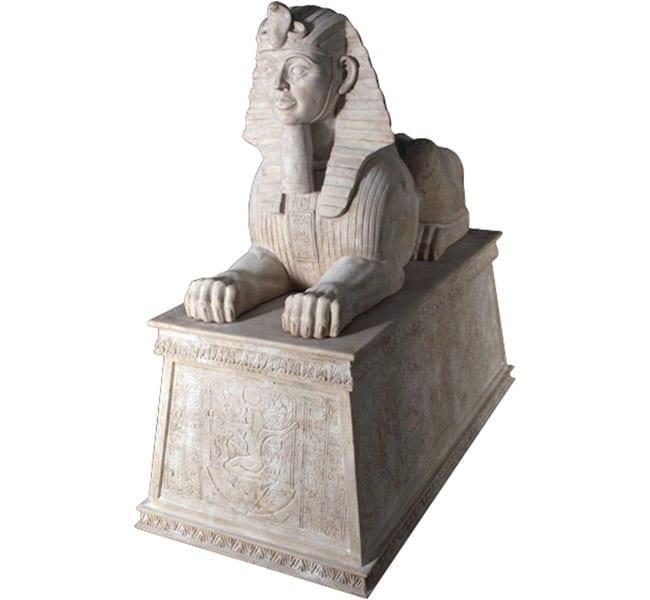Egyptian Sphinx on Base Roman Stone OTSPBRS