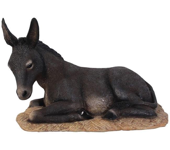 Fibreglass Donkey Foal Sculpture Lying CN