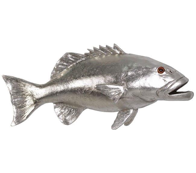 Fibreglass Fish Coral Trout Silver