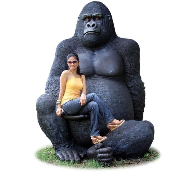 Fibreglass Giant Gorilla Statue Silverback ft