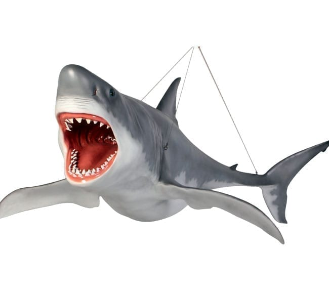 Great White Shark 18ft Hanging