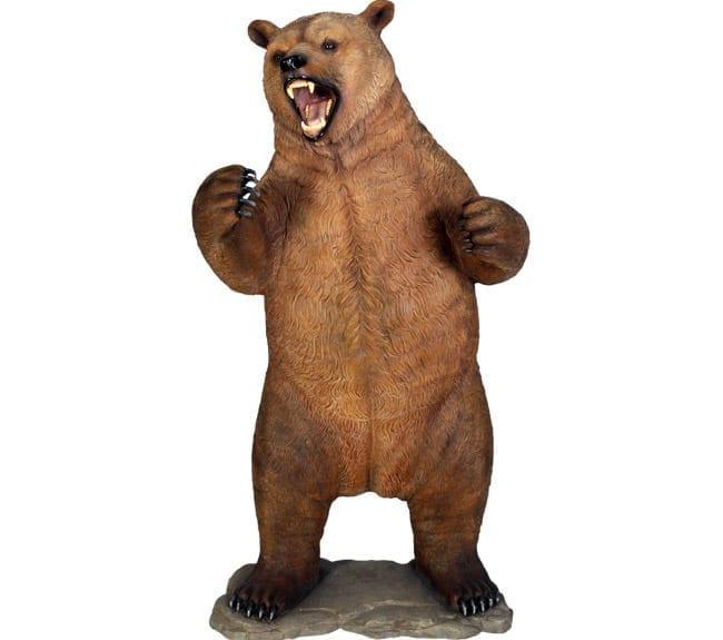 Fibreglass Grizzly Bear Statue Standing