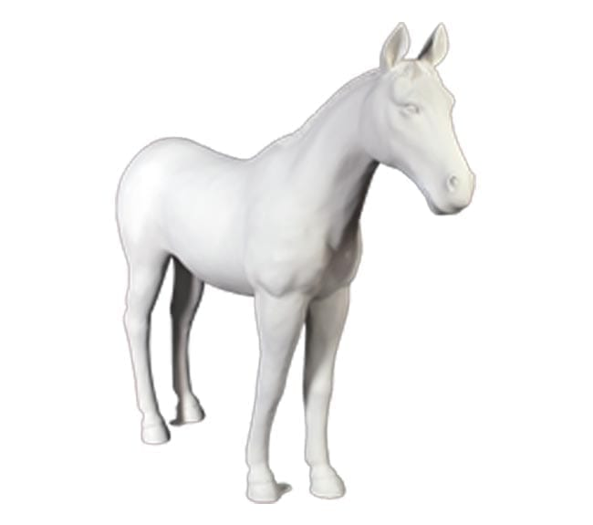 Fibreglass Horse Statue ft Unpainted Primed