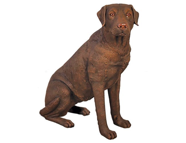 Fibreglass Life Size Dog Labrador Brown Sitting BR