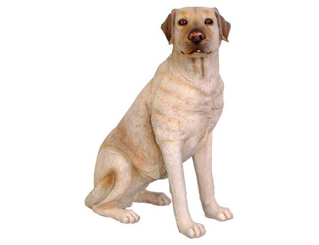 Fibreglass Life Size Dog Labrador Cream Sitting CR