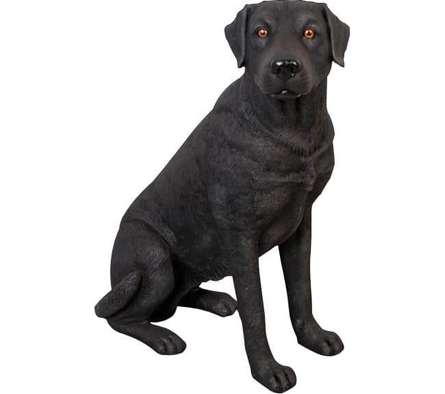 Fibreglass Life size Dog Labrador Black Sitting BL