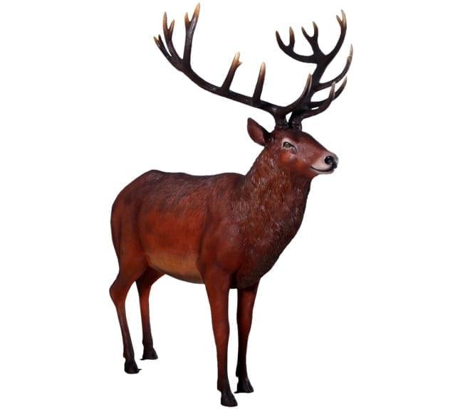 Fibreglass Life size Stag Red deer Sculpture