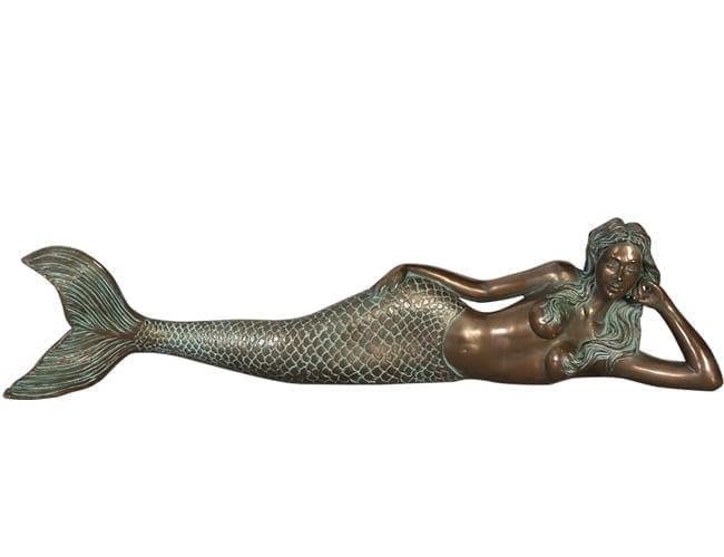 Fibreglass Mermaid Statue Lying