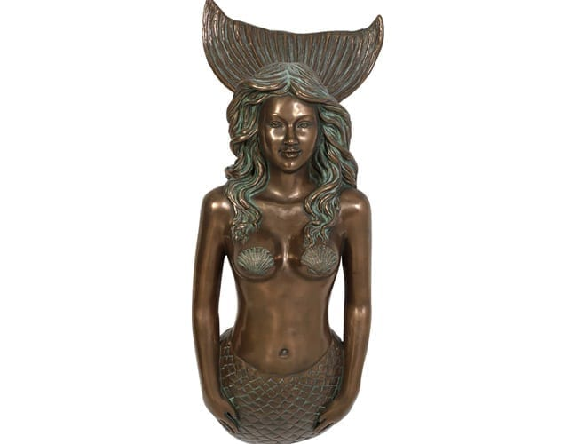 Fibreglass Mermaid Statue Wall Decor