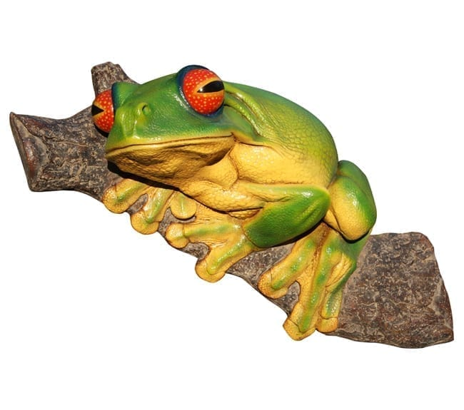Fibreglass Orange Eyed Tree Frog Wall Mount Small